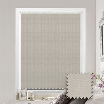 Made to measure vertical blind in Bubble Cream Fabric